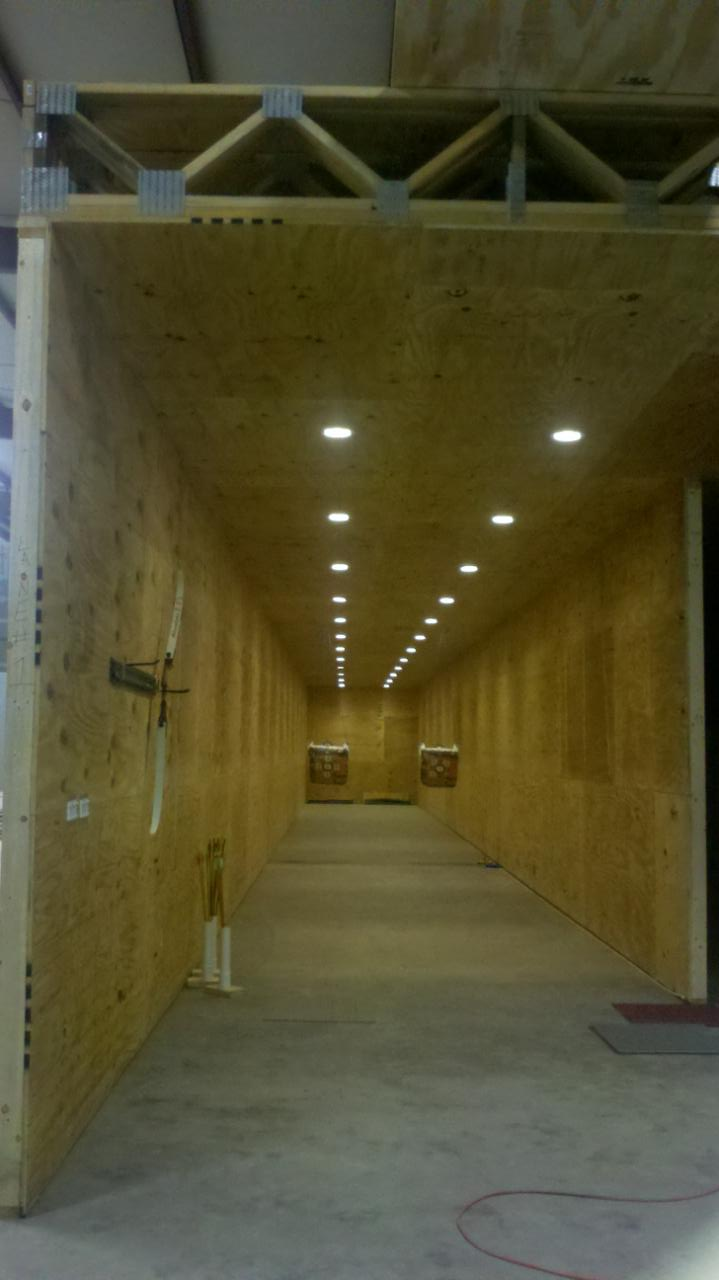 New Construction Pictures The Indoor Shooting Range